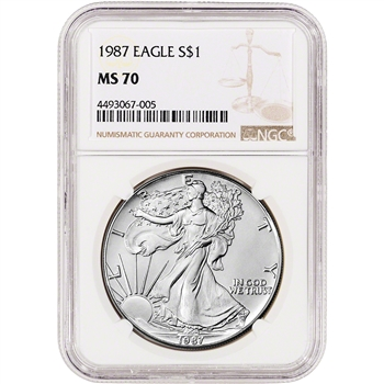 1987 American Silver Eagle - NGC MS70