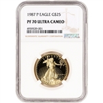 1987-P American Gold Eagle Proof 1/2 oz $25 - NGC PF70 UCAM