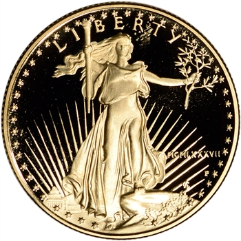 1987-P American Gold Eagle Proof 1/2 oz $25 - Coin in Capsule
