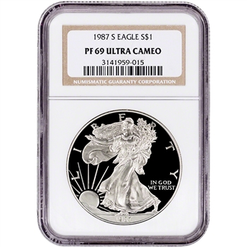 1987-S American Silver Eagle Proof - NGC PF69 UCAM