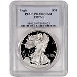 1987-S American Silver Eagle Proof - PCGS PR69 DCAM
