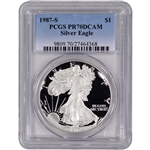 1987-S American Silver Eagle Proof - PCGS PR70 DCAM