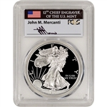 1987 S American Silver Eagle Proof - PCGS PR70 DCAM Mercanti Signed