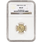 1988 American Gold Eagle (1/10 oz) $5 - NGC MS69