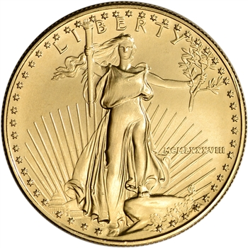 1988 American Gold Eagle 1 oz $50 - BU