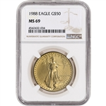 1988 American Gold Eagle (1 oz) $50 - NGC MS69