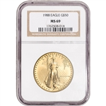 1988 American Gold Eagle 1 oz $50 - NGC MS69