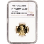1988-P American Gold Eagle Proof 1/4 oz $10 - NGC PF70 UCAM
