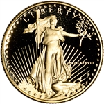 1988-P American Gold Eagle Proof 1/4 oz $10 - Coin in Capsule