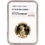 1988-P American Gold Eagle Proof 1/2 oz $25 - NGC PF70 UCAM