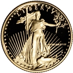 1988-P American Gold Eagle Proof 1/10 oz $5 - Coin in Capsule
