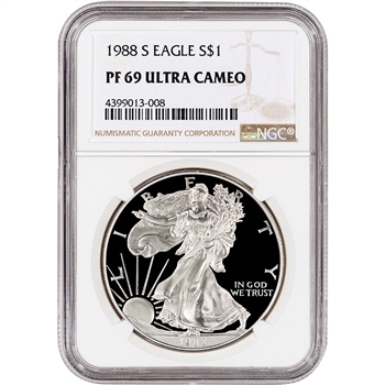 1988-S American Silver Eagle Proof - NGC PF69 UCAM
