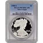 1988-S American Silver Eagle Proof - PCGS PR70 DCAM
