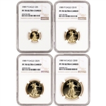 1989 American Gold Eagle Proof 4-pc Year Set - NGC PF70 UCAM