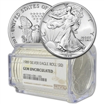 Roll of 20 - 1989 American Silver Eagle - NGC Gem Uncirculated