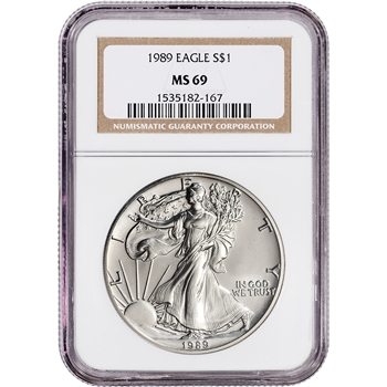 1989 American Silver Eagle - NGC MS69