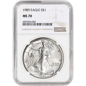 1989 American Silver Eagle - NGC MS70