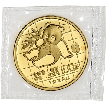 1989 China Gold Panda 1 oz 100 Yuan - BU - Mint Sealed