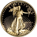 1989-P American Gold Eagle Proof 1/4 oz $10 - Coin in Capsule