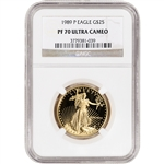 1989-P American Gold Eagle Proof 1/2 oz $25 - NGC PF70 UCAM