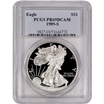 1989-S American Silver Eagle Proof - PCGS PR69 DCAM