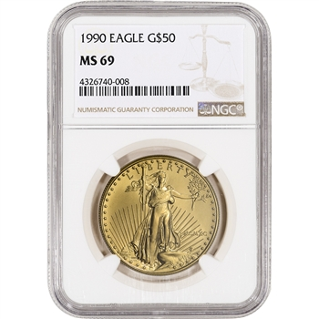 1990 American Gold Eagle (1 oz) $50 - NGC MS69