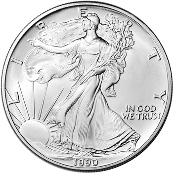 1990 American Silver Eagle - Brilliant Uncirculated