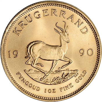 1990 South Africa Gold 1 oz Krugerrand - BU