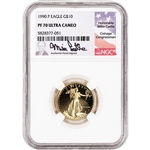 1990 P American Gold Eagle Proof 1/4 oz $10 - NGC PF70 UCAM Castle Signed