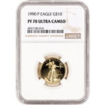 1990-P American Gold Eagle Proof 1/4 oz $10 - NGC PF70 UCAM