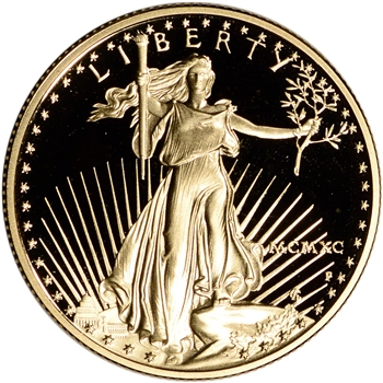 1990-P American Gold Eagle Proof 1/2 oz $25 - Coin in Capsule