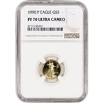 1990-P American Gold Eagle Proof (1/10 oz) $5 - NGC PF70 UCAM
