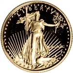 1990-P American Gold Eagle Proof 1/10 oz $5 - Coin in Capsule