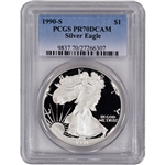 1990-S American Silver Eagle Proof - PCGS PR70DCAM