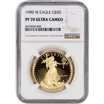 1990-W American Gold Eagle Proof (1 oz) $50 - NGC PF70 UCAM