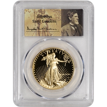 1990-W American Gold Eagle Proof (1 oz) $50 - PCGS PR70 - St. Gaudens Label