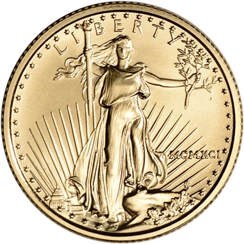 1991 American Gold Eagle 1/4 oz $10 - BU