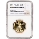 1991-P American Gold Eagle Proof (1/2 oz) $25 - NGC PF70 UCAM