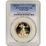 1991-P American Gold Eagle Proof 1/2 oz $25 - PCGS PR70 DCAM