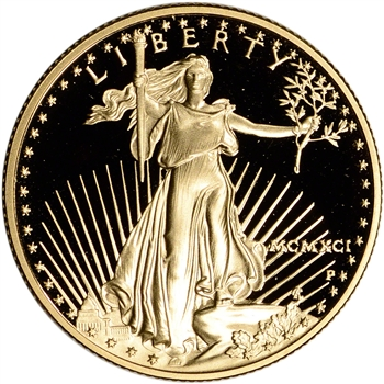 1991-P American Gold Eagle Proof 1/2 oz $25 - Coin in Capsule
