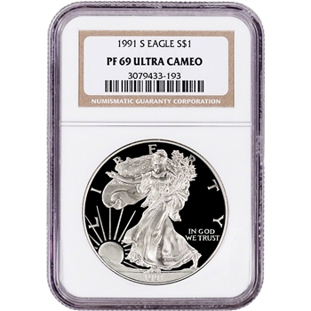 1991-S American Silver Eagle Proof - NGC PF69 UCAM
