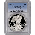 1991-S American Silver Eagle Proof - PCGS PR70 DCAM
