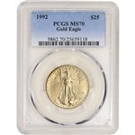 1992 American Gold Eagle 1/2 oz $25 - PCGS MS70