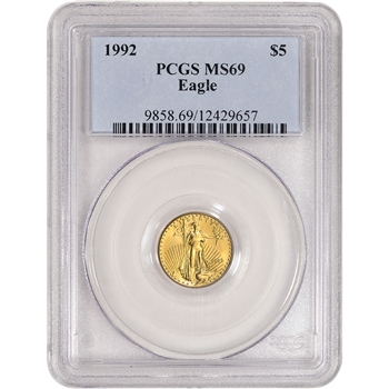 1992 American Gold Eagle 1/10 oz $5 - PCGS MS69
