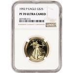 1992-P American Gold Eagle Proof 1/2 oz $25 - NGC PF70 UCAM