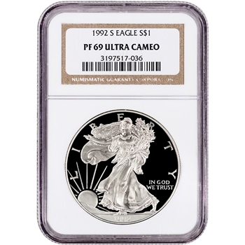 1992-S American Silver Eagle Proof - NGC PF69 UCAM
