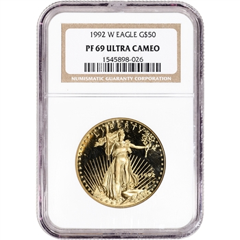 1992 W American Gold Eagle Proof 1 oz $50 - NGC PF69 UCAM