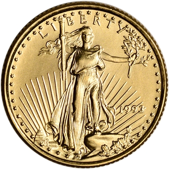 1993 American Gold Eagle 1/10 oz $5 - BU