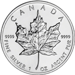 1993 Canada Silver Maple Leaf - 1 oz - $5 - BU