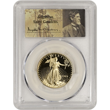 1993-P American Gold Eagle Proof (1/2 oz) $25 - PCGS PR70 DCAM St. Gaudens Label